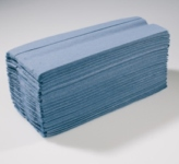 HAND TOWELS 1 PLY BLUE