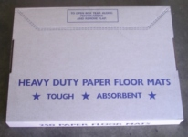 FLOOR MATS 250 plain white paper floor mats designed to keep customer carpets clean during services