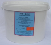 NITTI GRITTI is a solvent based  hand cleaner with poly beads.