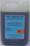 PINE DISINFECTANT a  fresh concentrated pine disinfectant complies with BS6424 and will dilute at up to 60to1.