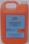 THICK BLEACH a thickened powerful concentrated bleach for use in food and industrial factories.  Economical in use