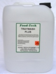 FOODTECH HD TRAYWASH  PLUS is a  low Foam Heavy Duty Caustic based Detergent