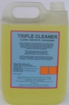 TRIPLE CLEANER   Cleans, disinfects and deodorises in one operation